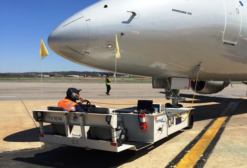 towbarless aircraft tugs - JP100S